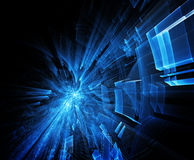 Abstract blue background. Computer graphics 3d abstract blue composition Stock Image