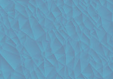 Abstract blue background consisting of triangles. Vector art Royalty Free Stock Photos