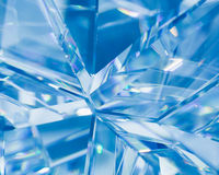 Abstract blue background of crystal refractions Stock Photo