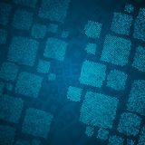 Abstract blue background with cube mosaic Royalty Free Stock Image