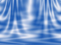 Abstract blue background - curtain and waves Stock Photos
