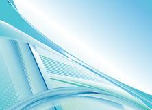 Abstract blue background with lines Stock Image