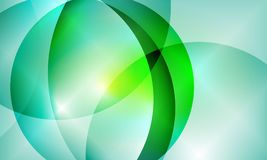 Bright green Abstract curve Background Royalty Free Stock Photos