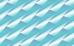 Abstract blue background of 3D folded triangles. Abstract geometric background of blue triangles in 3D appearance over light blue gradient. furturistic Royalty Free Stock Photos