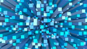 Abstract blue background. Abstract 3d illustration of blue background royalty free illustration