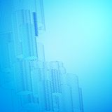 Abstract blue background for design. Stock Images