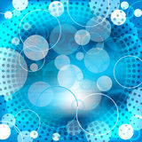 Abstract blue background design with shapes Stock Photography