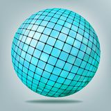 Abstract blue Background with disco ball. EPS 8 Stock Images