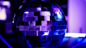 Abstract blue background with disco ball stock footage
