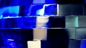 Abstract blue background with disco ball stock video