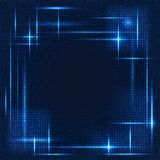 Abstract blue background with dots in lines. Abstract blue background with dots shines in lines Stock Photography