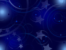 Abstract blue background with elements of European Union flag Stock Images