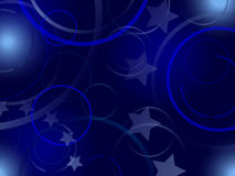 Abstract blue background with elements of European Union flag Stock Photo