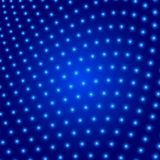 Abstract blue background enveloped glowing circles Royalty Free Stock Photography