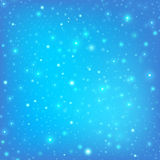 Abstract blue background with falling snawflakes. Royalty Free Stock Images