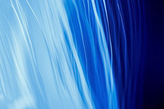 Abstract. Blue abstract background with fiber optics Stock Photography