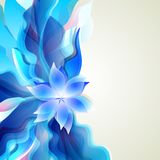 Abstract blue background for floral elements Royalty Free Stock Photography