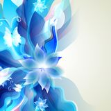 Abstract blue background for floral elements Stock Images