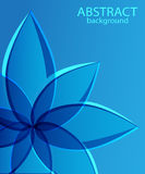 Abstract blue background with flower Royalty Free Stock Photography