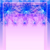 Abstract blue background with flowers vector illustration