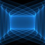 Abstract blue background. Geometric pattern in blue colors. Abstract blue frame. Digital art Stock Photos