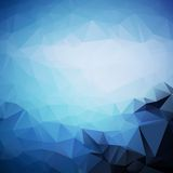 Geometric triangle shapes. Abstract blue background of geometric triangle shapes in random pattern Vector Illustration