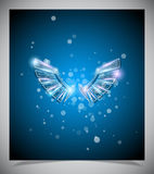 Abstract blue background with glass  wings. Stock Photography