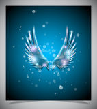 Abstract blue background with glass  wings. Royalty Free Stock Photography