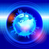 Background with globe Royalty Free Stock Photo