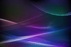Abstract blue background of glowing lines Royalty Free Stock Image