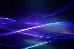 Abstract blue background of glowing lines Stock Photos