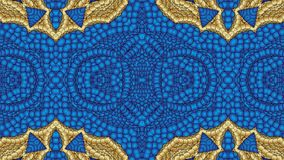 Abstract blue background with gold patterns for the design of te Royalty Free Stock Photography