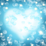 Abstract blue background with heart shape. Stock Photo