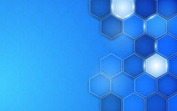 Abstract blue background hexagon. Vector Royalty Free Stock Image