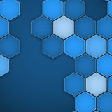 Abstract blue background hexagon. Vector illustration. Clip-art royalty free illustration
