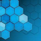 Abstract blue background hexagon. Vector illustration Royalty Free Stock Photo