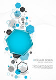 Abstract blue background with hexagon. Vector Illustration Royalty Free Stock Images