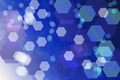 Abstract blue background with hexagons Stock Photos