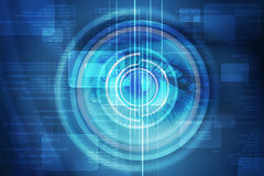 Abstract blue background with human eye Royalty Free Stock Images