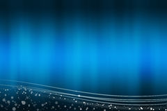 Abstract blue background with the light lines at the bottom Royalty Free Stock Photography