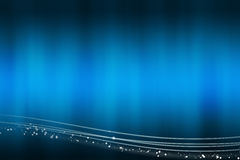 Abstract blue background with the light lines at the bottom Royalty Free Stock Photos
