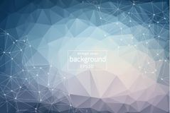Abstract blue background with lines, circles, EPS 10 design background. Positive abstract design effect royalty free illustration