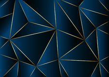 Abstract blue background in low poly style. Vector illustration stock illustration