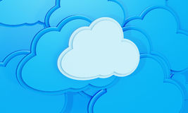 Abstract blue background made of 3d cloud Stock Photo