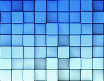 Abstract blue background made of cubes Royalty Free Stock Image