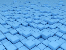 Abstract blue background made of 3d cubes Stock Photography