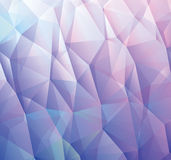 Abstract blue background made from triangles Stock Images