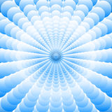 Abstract  blue background of many  superposed blue circles Royalty Free Stock Photo