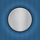 Abstract blue background with  metal plate Royalty Free Stock Photography