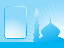 Abstract blue background with mosque Royalty Free Stock Image
